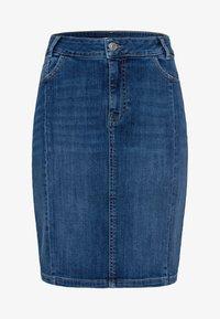 zero - MIT TASCHEN - Denim skirt - dark mid blue wash - 4