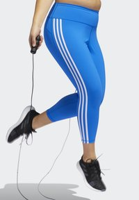 adidas Performance - BELIEVE THIS 3-STRIPES 7/8 LEGGINGS (PLUS SIZE) - Legging - blue - 4
