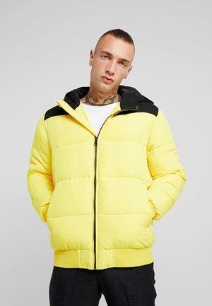 ONSBOSTON QUILTED BLOCK HOOD - Winter jacket - vibrant yellow