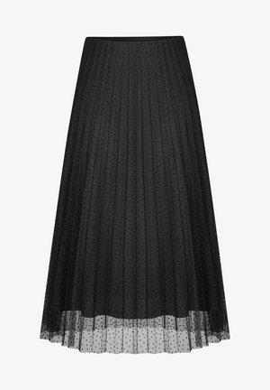 MIT PUNKTEN - A-line skirt - schwarz