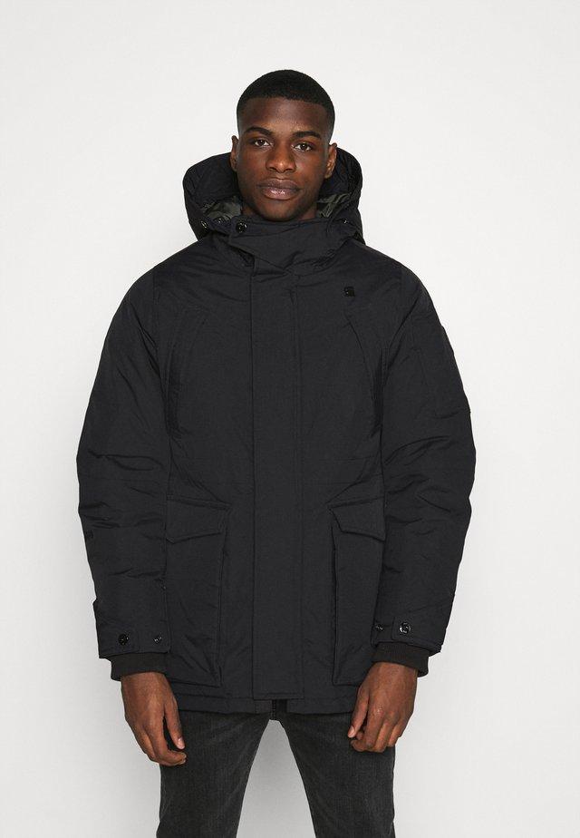 EXPEDIC+ HOODED DOWN - Down coat - hide nylon wr - dk black