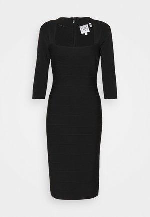 SQUARE 3/4 SLEEVE ICON DRESS - Vestido de tubo - black