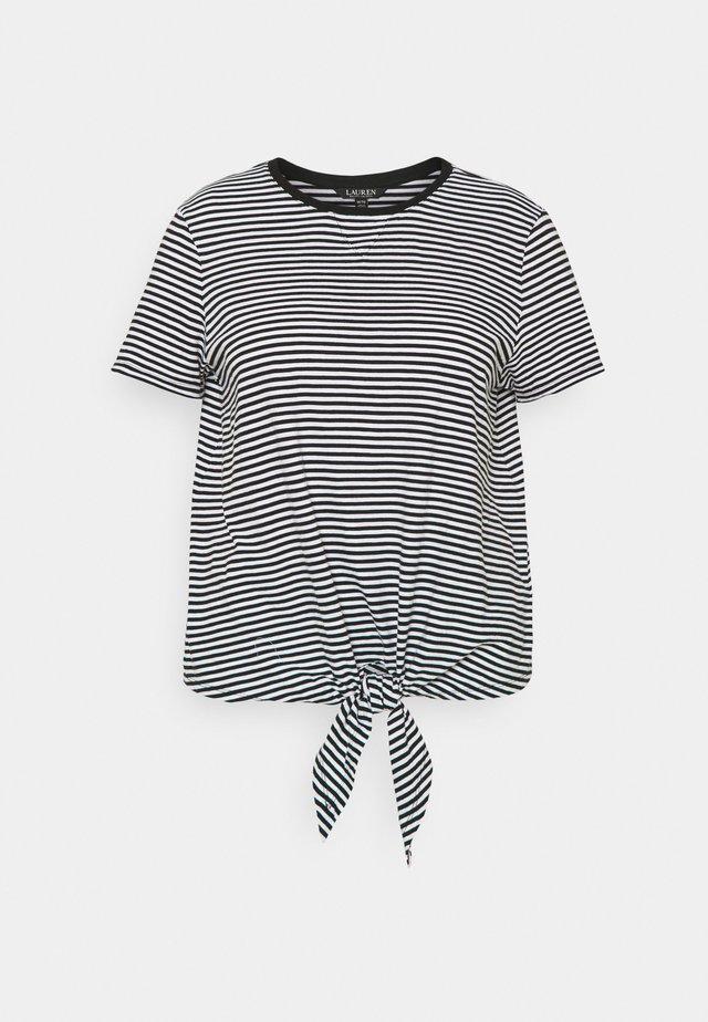 GENARO SHORT SLEEVE - T-Shirt basic - black/white