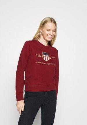 ARCHIVE SHIELD  - Sweatshirt - mahogny red