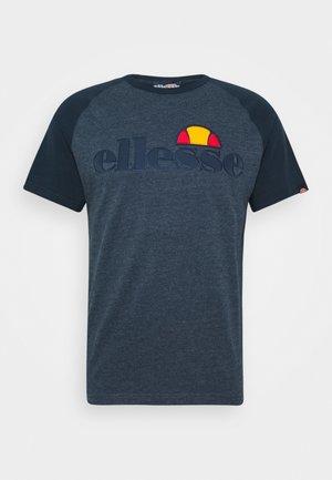 COPER - T-shirt med print - navy marl