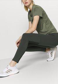 adidas Performance - Leggings - khaki - 5