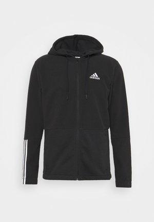 ESSENTIALS - Fleece jacket - black/white