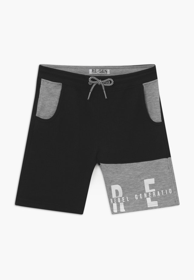 TEEN BOYS BERMUDA - Verryttelyhousut - black