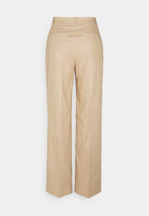LOOSE FIT SUIT PANTS - Trousers - beige