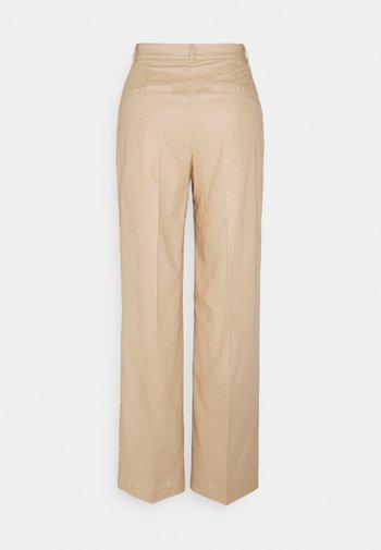 LOOSE FIT SUIT PANTS - Bukse - beige