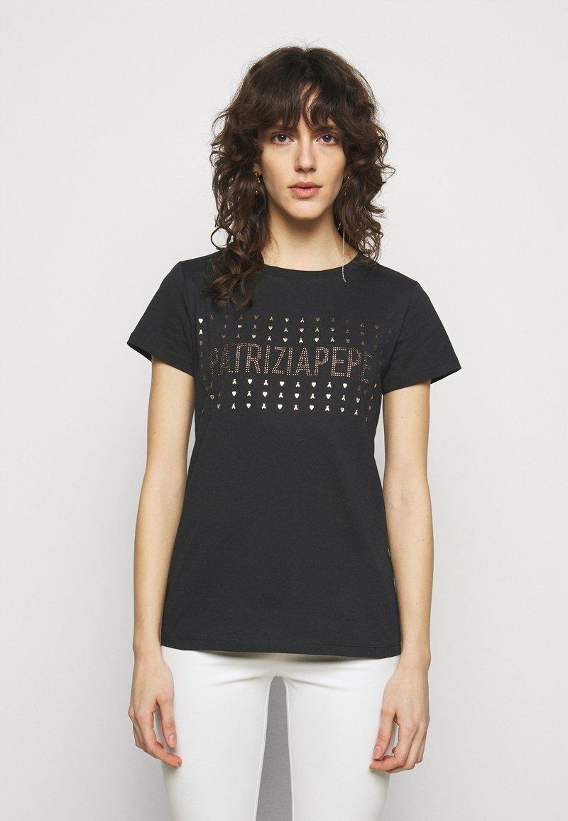 Patrizia Pepe - MAGLIA - Print T-shirt - nero