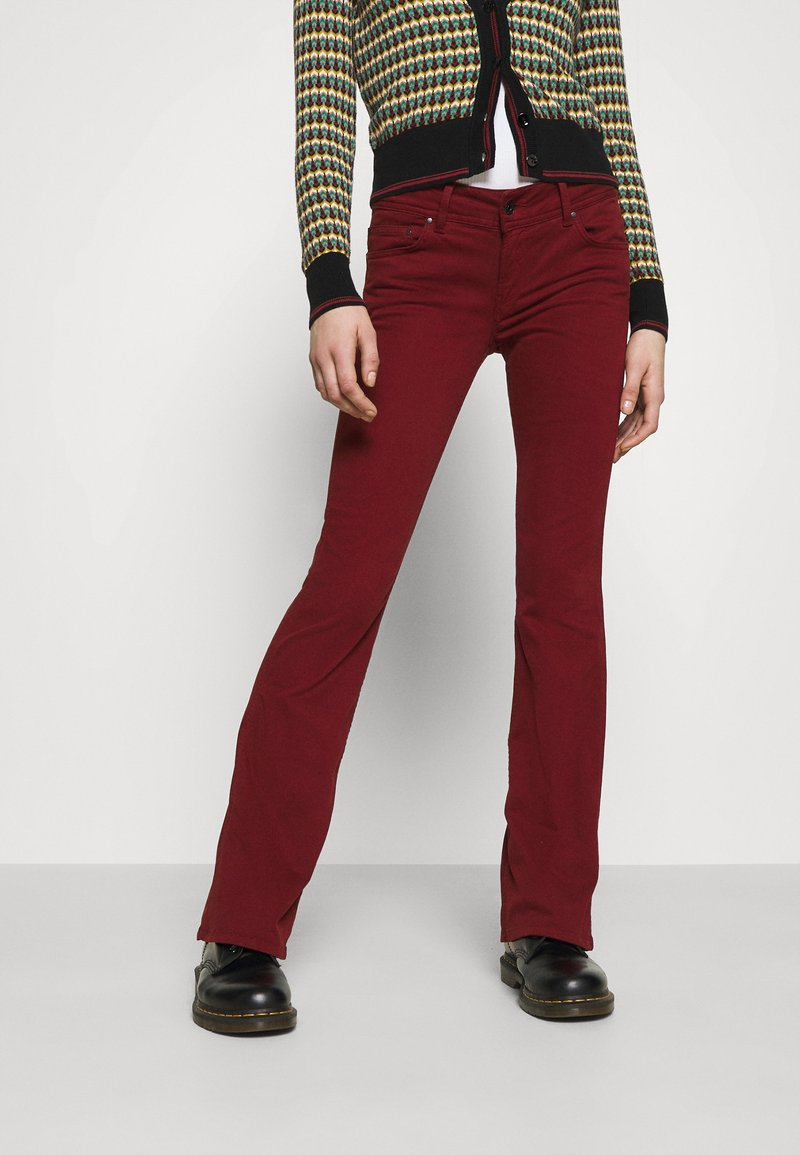 Pepe Jeans - NEW PIMLICO - Trousers - currant