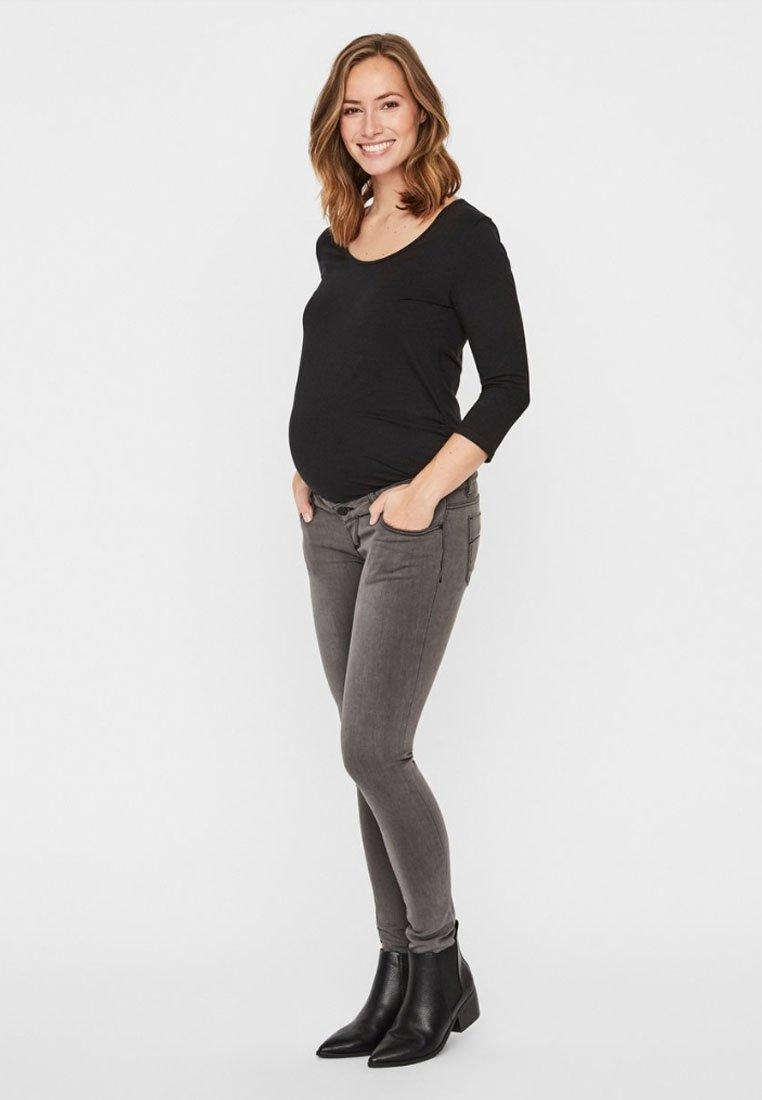 MAMALICIOUS MLLOLA - Jeans Skinny Fit - grey denim/used denim 28bRgP