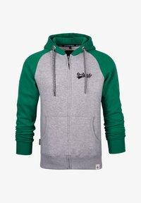 Spitzbub - SPITZBUB HOODED ZIP OLIVER - Zip-up hoodie - grau/grün - 0