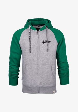 SPITZBUB HOODED ZIP OLIVER - Zip-up hoodie - grau/grün