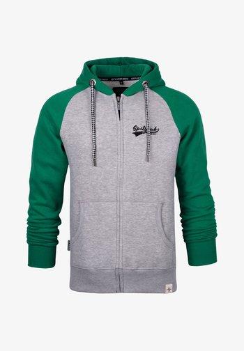 SPITZBUB HOODED ZIP OLIVER - Zip-up sweatshirt - grau/grün