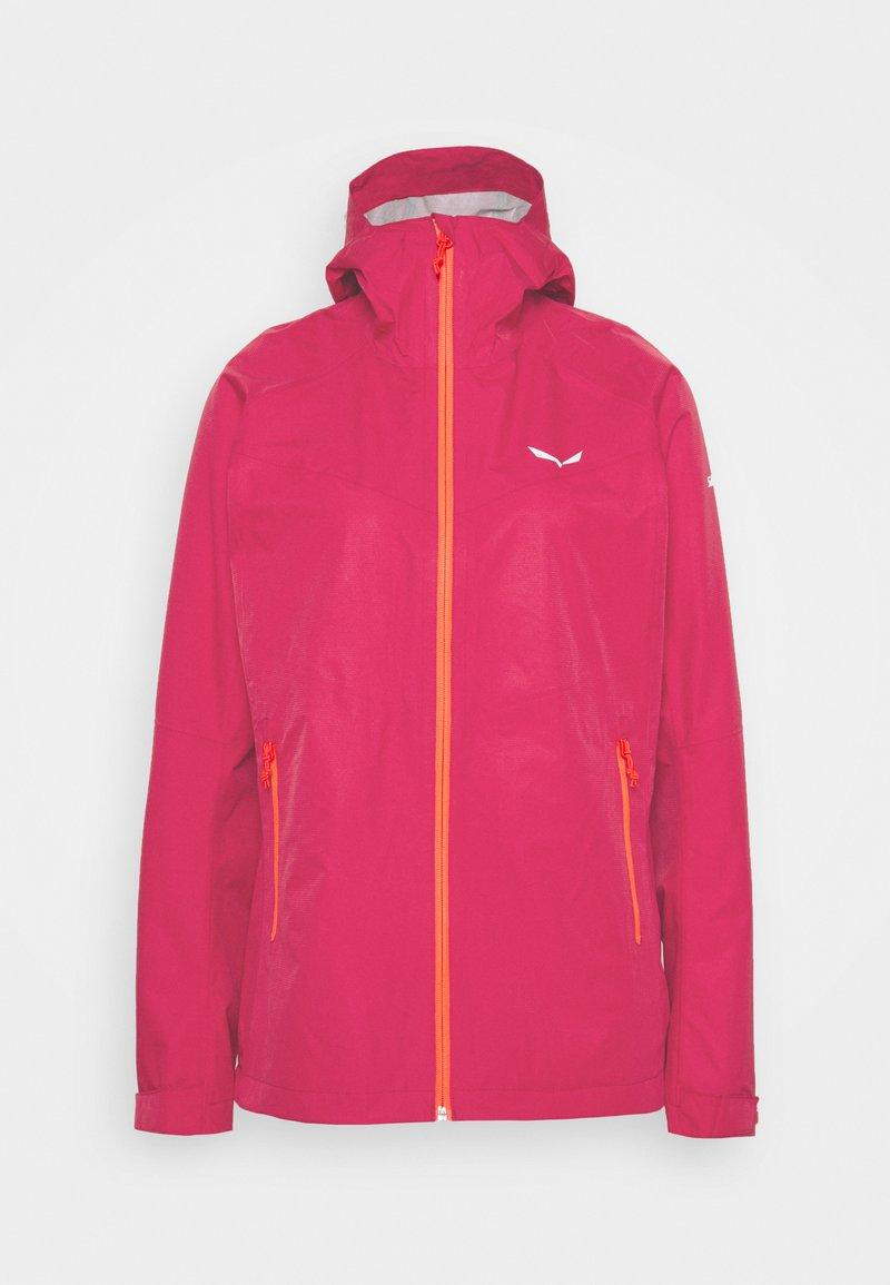 Salewa - AQUA - Hardshell jacket - rose red