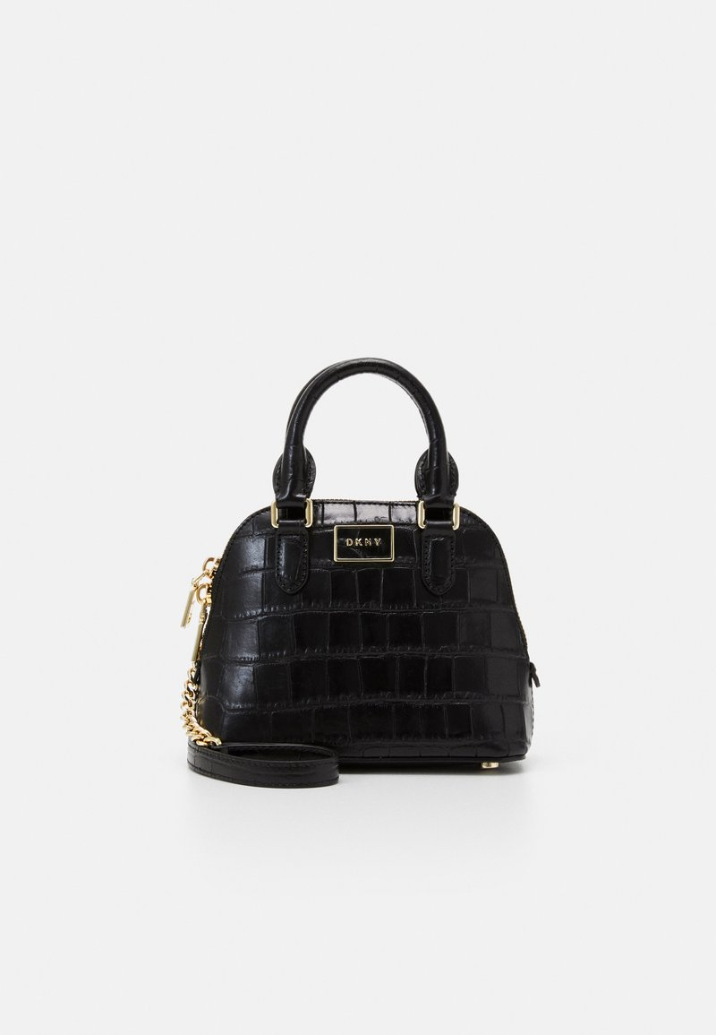 DKNY - STEFFY MINI DOME SATCHEL - Kabelka - black/gold