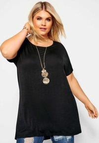Yours Clothing - Basic T-shirt - black - 0