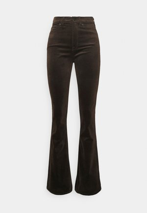 FLARE - Trousers - bark