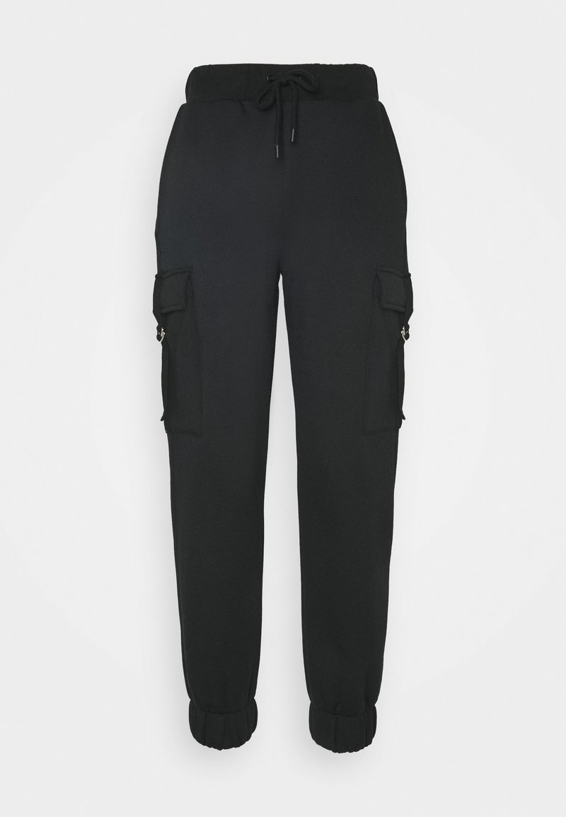 NU-IN - TONI DREHER X nu-in HIGH WAIST CARGO JOGGERS - Cargo trousers - deep black