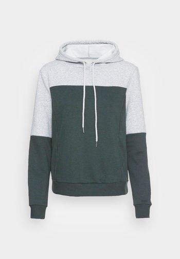 ONLINC JOEY EVERYHOOD - Sweatshirt - light grey melange/mallard green