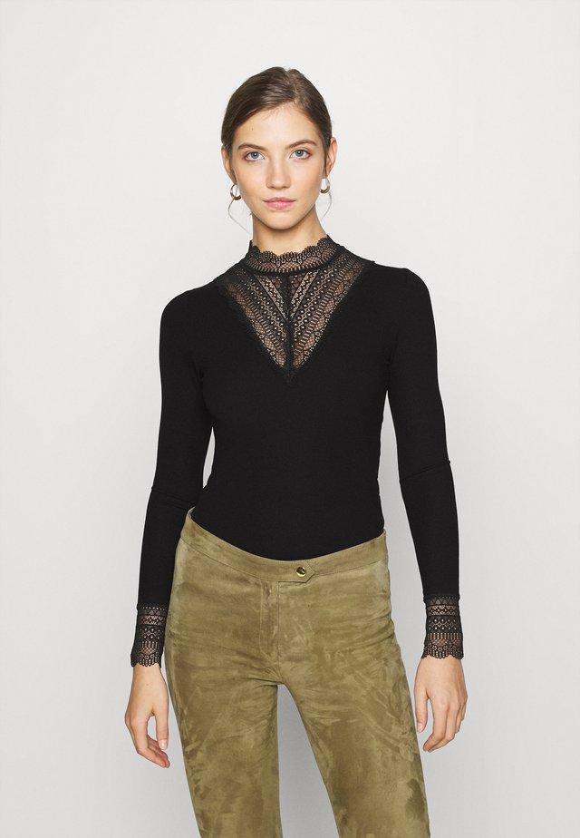 ONLTILDE HIGH NECK  - T-shirt à manches longues - black