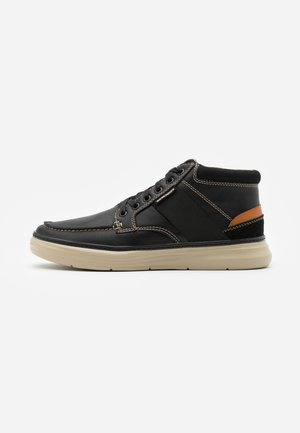 MORENO ALAGO - Sneakersy wysokie - black/natural