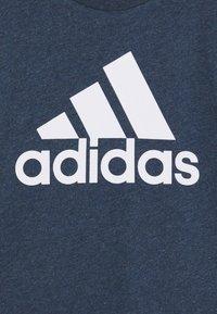 adidas Performance - UNISEX - T-shirt print - crew navy melange/white - 2