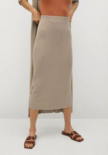 CANE-A - Pencil skirt - gris clair/pastel