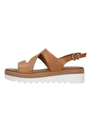 Sandalen met plateauzool - braun