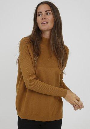 FRCEMELANGE - Svetr - golden brown melange