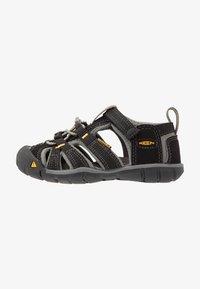 Keen - SEACAMP II CNX - Walking sandals - black/yellow - 1