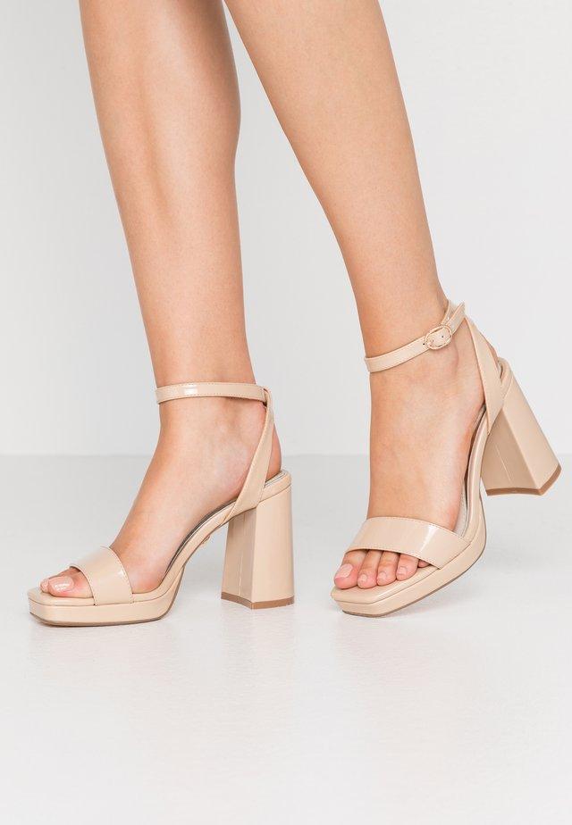 JOSEPHINE - Sandály na vysokém podpatku - nude