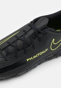 Nike Performance - PHANTOM GT CLUB TF - Astro turf trainers - black/cyber/light photo blue - 5