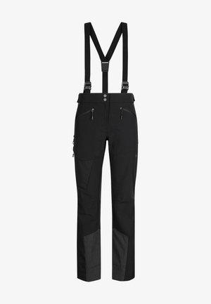 BASE JUMP - Długie spodnie trekkingowe - black-phantom