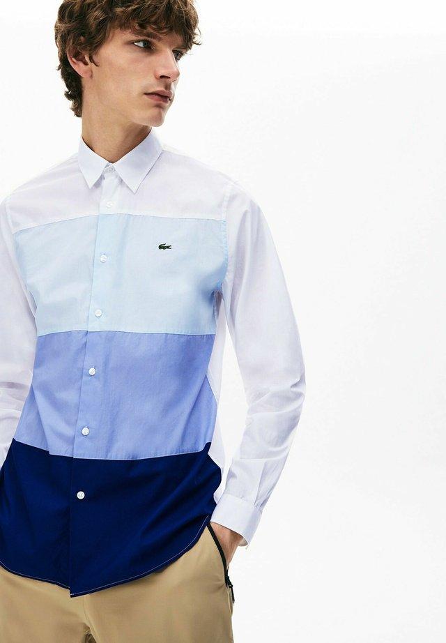 Chemise - navy blau / lila / hellblau / weiß
