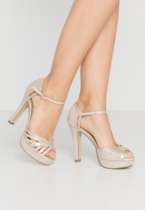 Peeptoe heels - gold