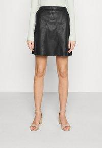 Vero Moda - VMPARIS SHORT SKIRT  - Mini skirt - black - 0