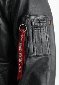 Alpha Industries - Leather jacket - black - 5