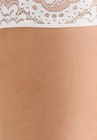 KUNERT - 20 DEN MYSTIQUE - Over-the-knee socks - cashmere/ivory - 1