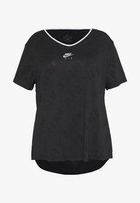 Nike Performance - W NK AIR  - T-shirts med print - black/silver - 3
