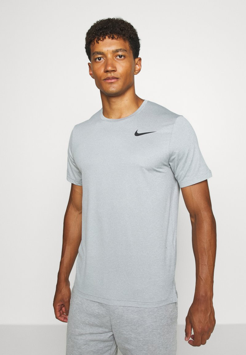 Nike Performance - T-Shirt basic - smoke grey/light smoke grey/heather/black