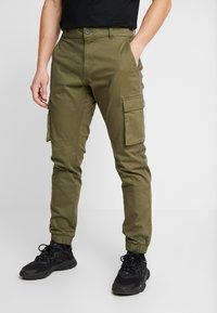 Only & Sons - ONSCAM STAGE CUFF - Reisitaskuhousut - olive night - 0