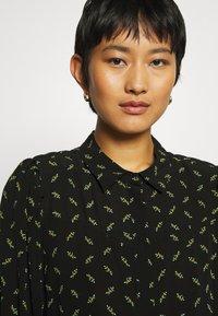 Gestuz - BELINAGZ SHIRT - Button-down blouse - black - 3