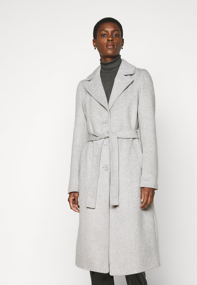 PCSISUN JACKET TALL - Classic coat - light grey melange