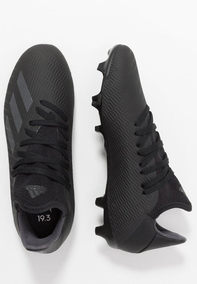 X 19.3 FG - Voetbalschoenen met kunststof noppen - core black/utility black/silver metalic