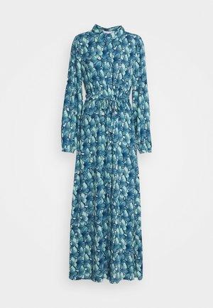 FRIDA LONG DRESS - Maxi-jurk - dusty blue/mint green