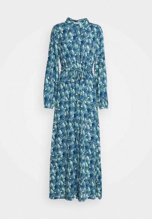 FRIDA LONG DRESS - Maxi dress - dusty blue/mint green
