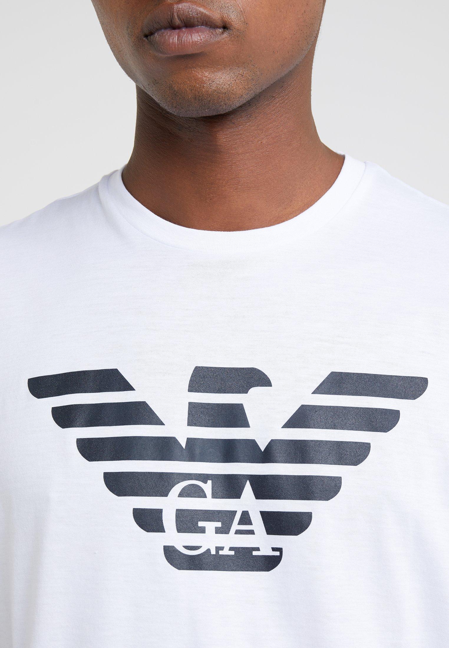 Emporio Armani T-shirts Med Print - White